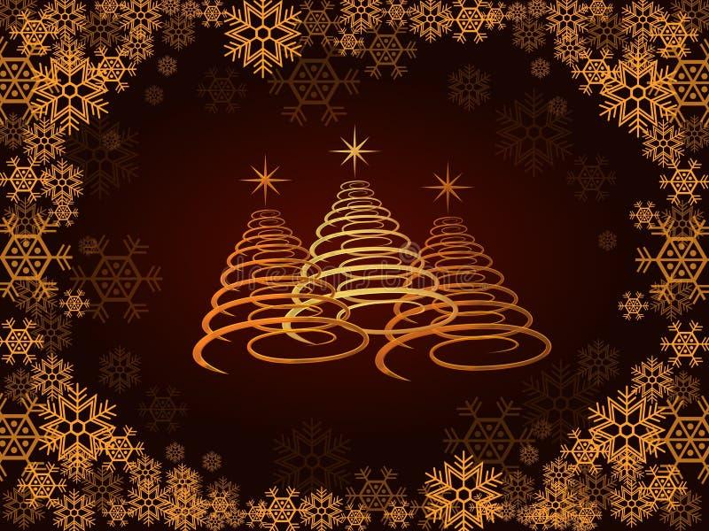 Drie Kerstbomen stock illustratie
