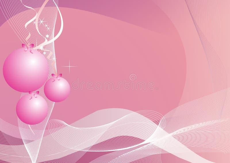 Drie Kerstmisballen vector illustratie