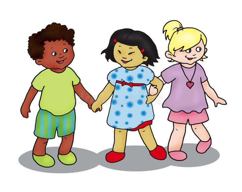 Drie kinderen vector illustratie
