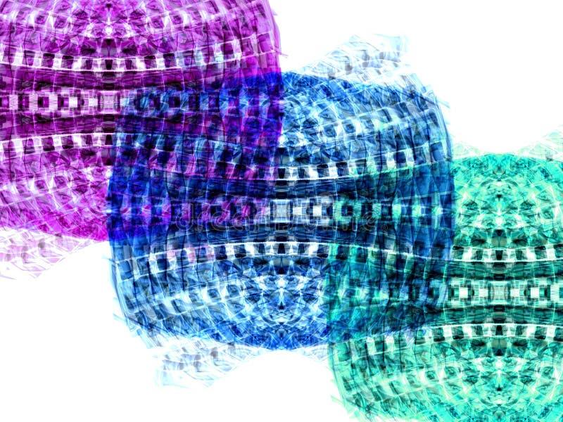 Drie kleuren stock illustratie