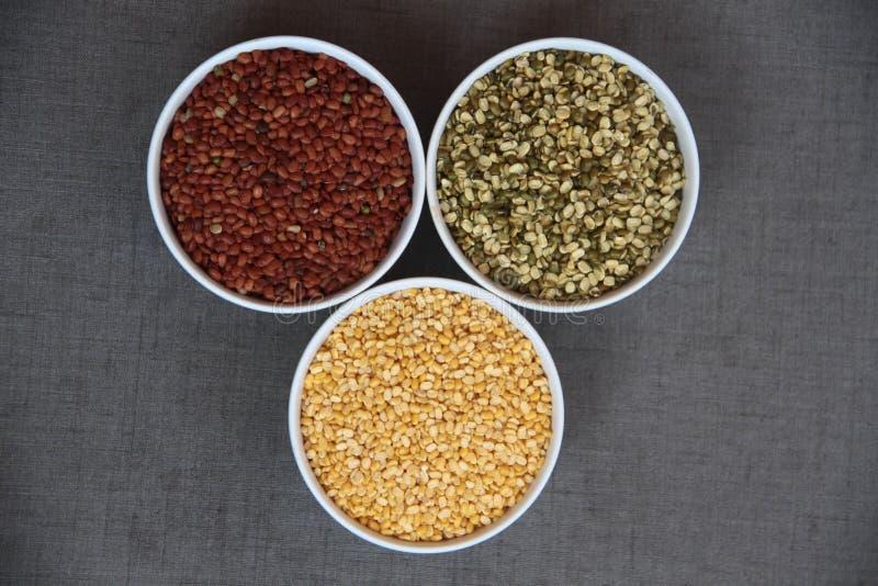 Drie kleuren volledige zaden royalty-vrije stock fotografie