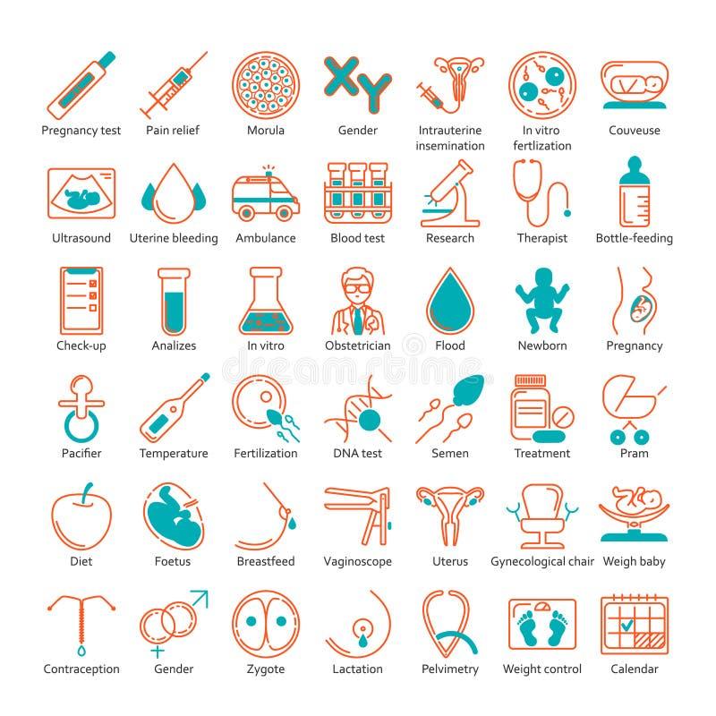 Drie kleurenpictogrammen op kartonmarkeringen royalty-vrije illustratie