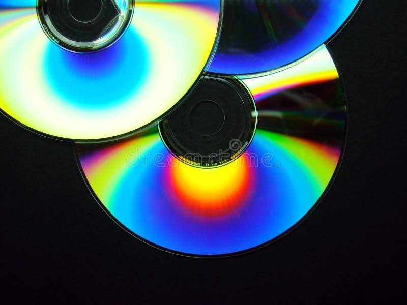 Drie kleurrijke CDâs royalty-vrije stock foto