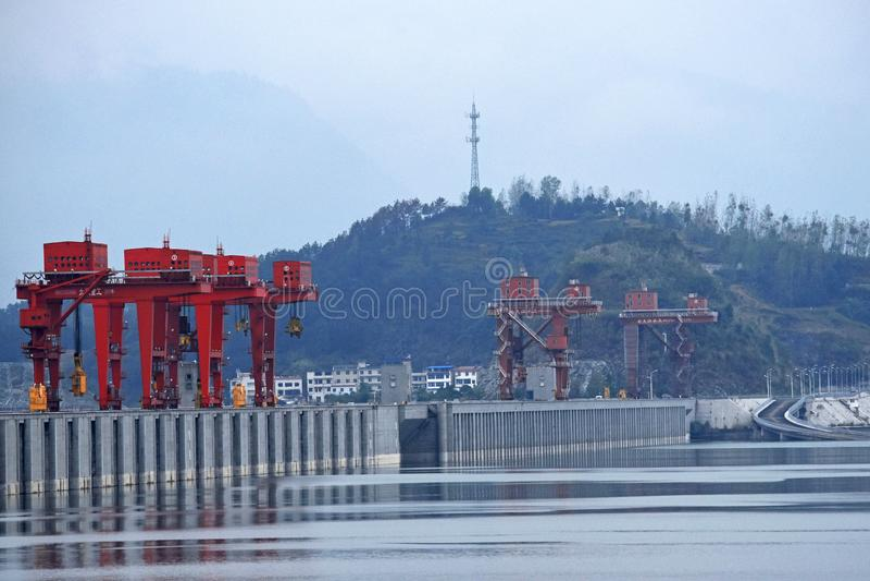 Drie Klovendam, China royalty-vrije stock afbeeldingen
