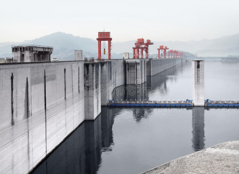 Drie Klovendam in China stock fotografie