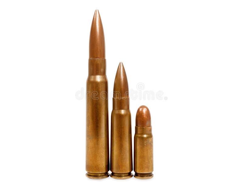 Drie kogels stock afbeelding