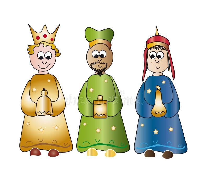 Drie Koningen royalty-vrije illustratie