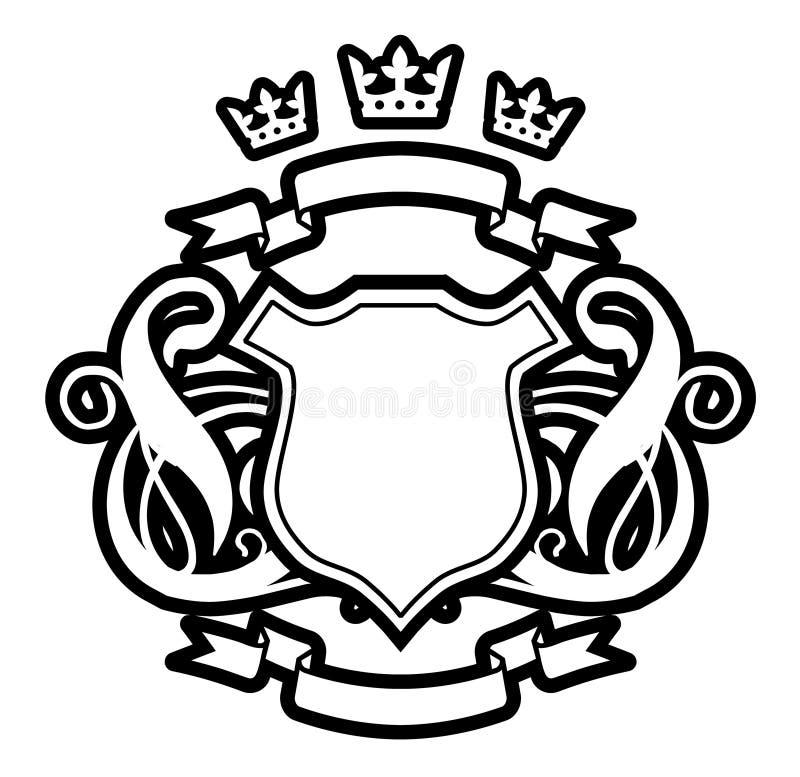 Drie kronen royalty-vrije illustratie