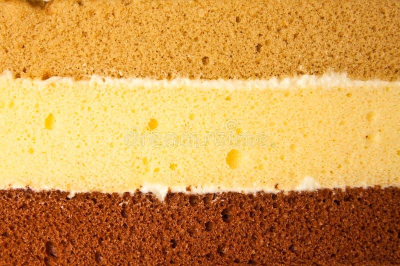 Drie lagen cake stock foto's