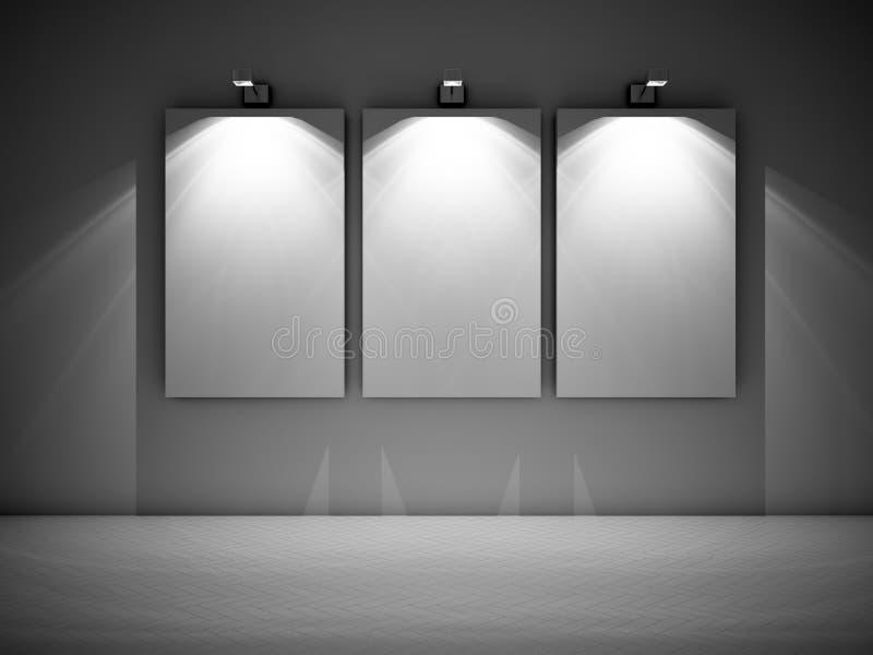 Drie lege beelden vector illustratie