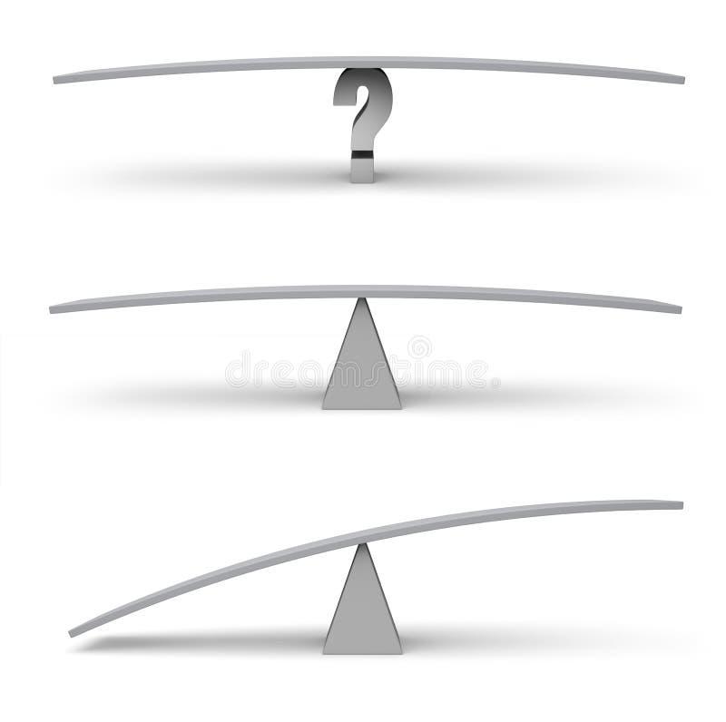 Drie Lege Evenwichtsbalkschalen vector illustratie