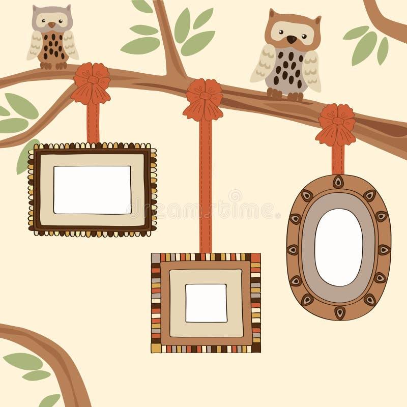 Drie Lege Frames royalty-vrije illustratie