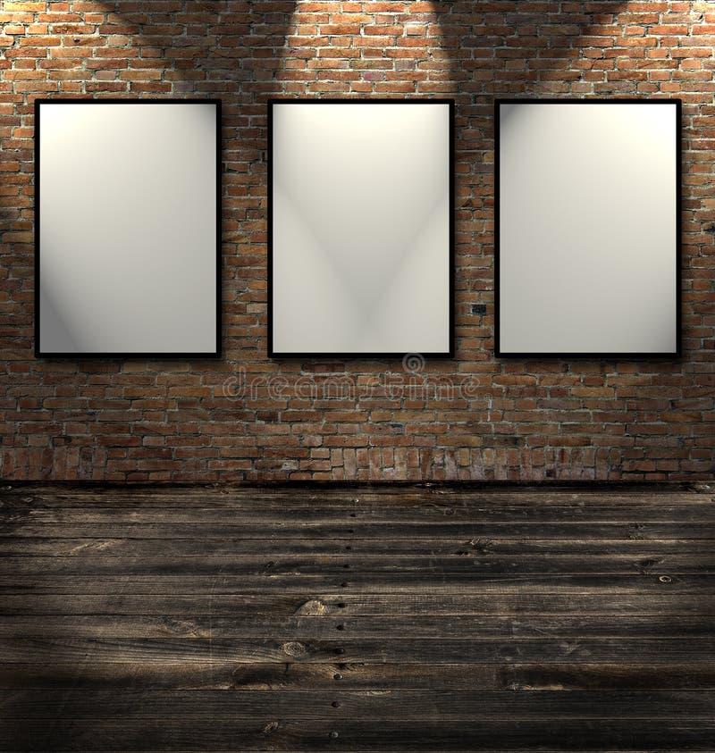 Drie lege frames stock illustratie