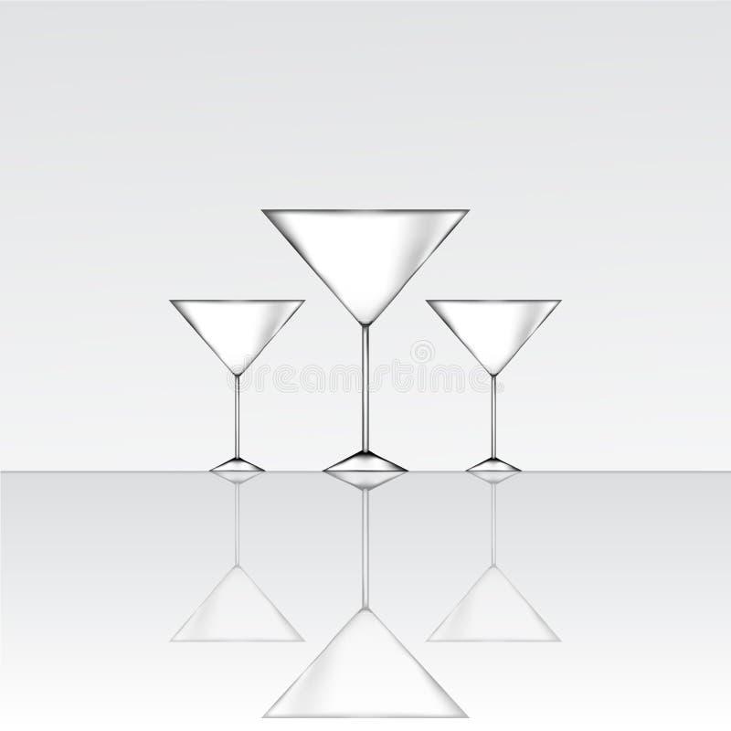 Drie martini-glas royalty-vrije illustratie