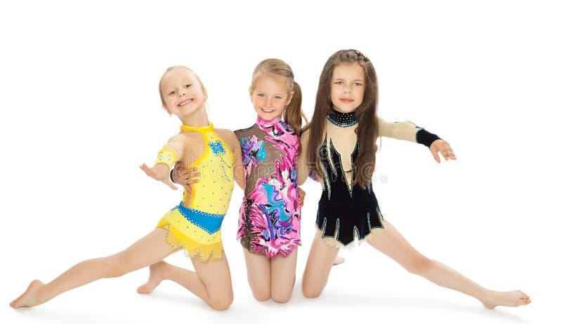 Drie meisjesturners stock foto's