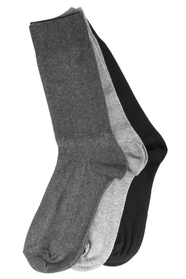 Drie paar sokken royalty-vrije stock afbeelding