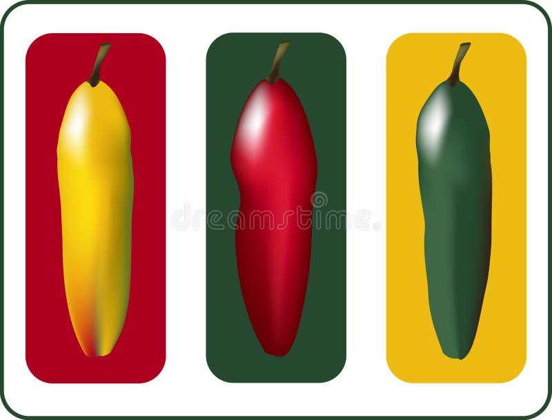 Drie Peper stock illustratie