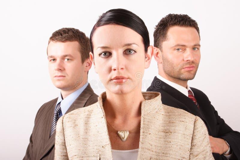 Drie personen commercieel team 3   royalty-vrije stock afbeelding