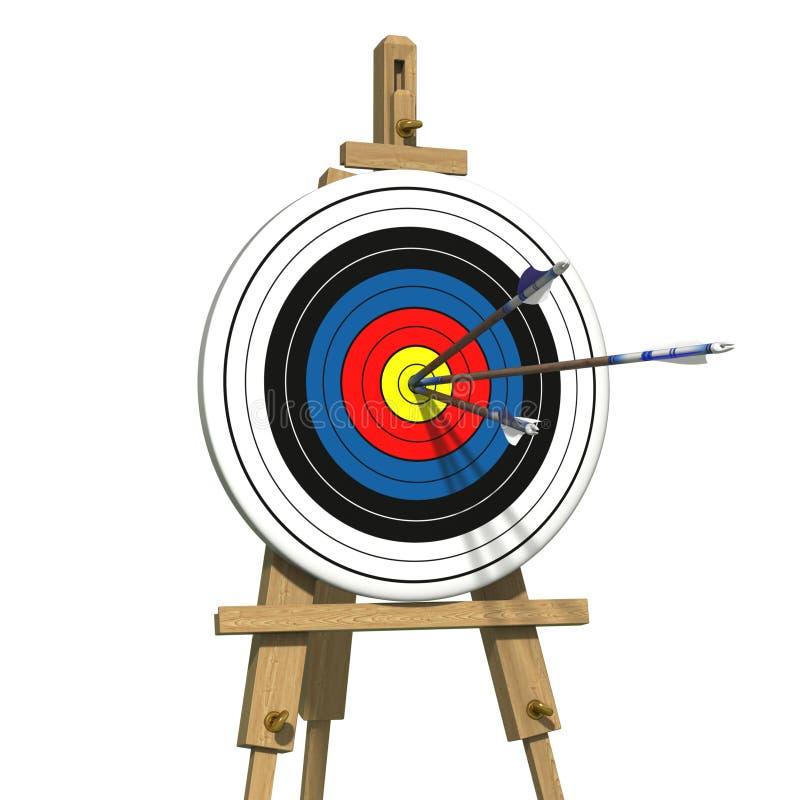 Download Drie Pijlen Op Een Boogschietendoel Stock Illustratie - Illustratie bestaande uit boogschieten, nauwkeurigheid: 39102969