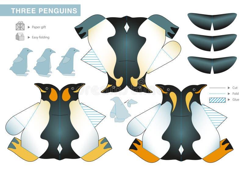 Drie Pinguïnen stock illustratie