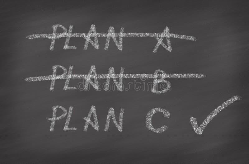 Drie Plannen, concept voor verandering van plan vector illustratie