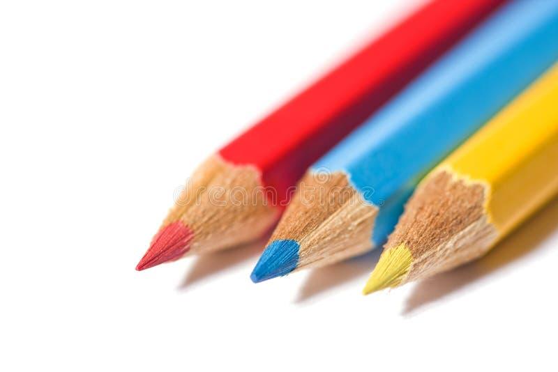 Drie Primaire Kleuren Stock Foto