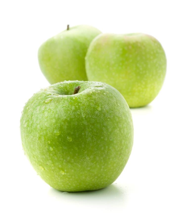 Drie rijpe appelen royalty-vrije stock fotografie