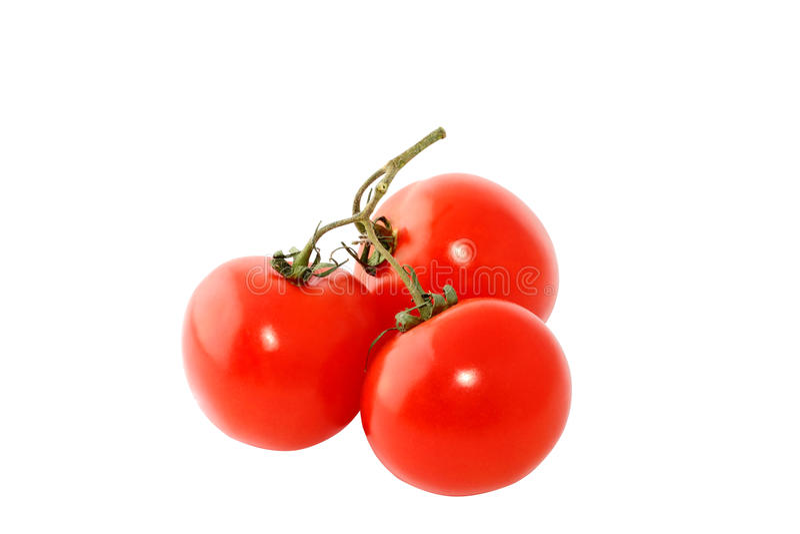 Drie rode tomaten royalty-vrije stock foto's