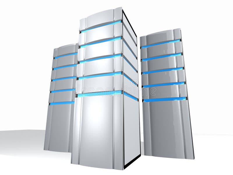 Drie servers vector illustratie