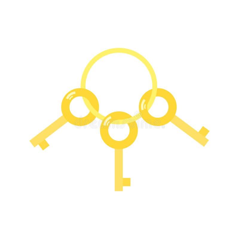 Drie sleutels die op een ring hangen royalty-vrije illustratie