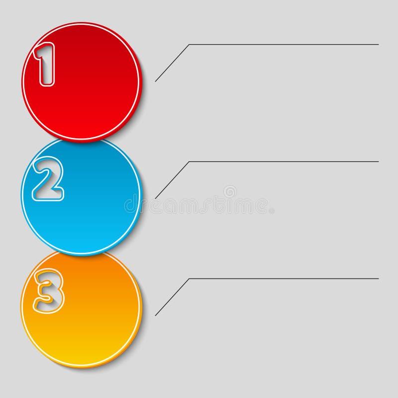 Drie stappenstroomschema royalty-vrije illustratie