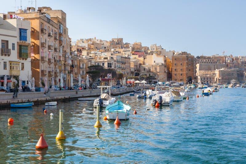 Drie Steden in Malta stock afbeelding