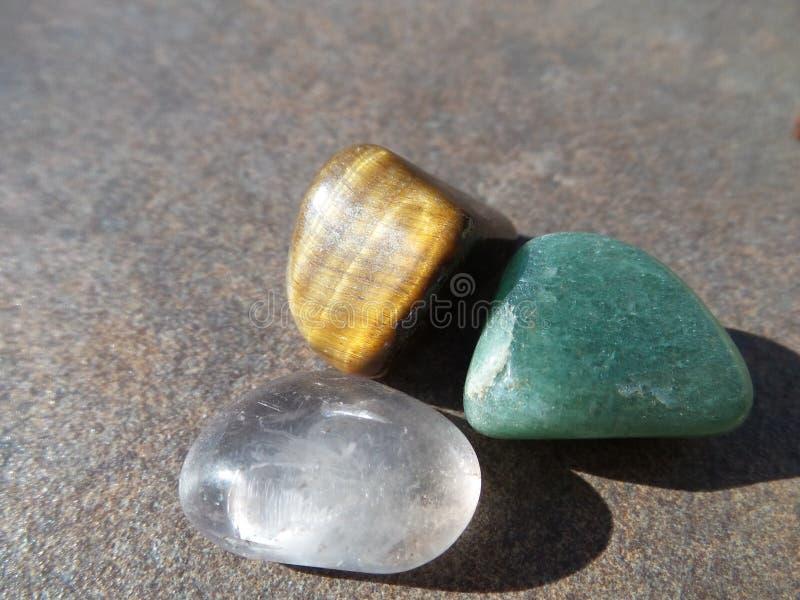 Drie stenen stock afbeelding