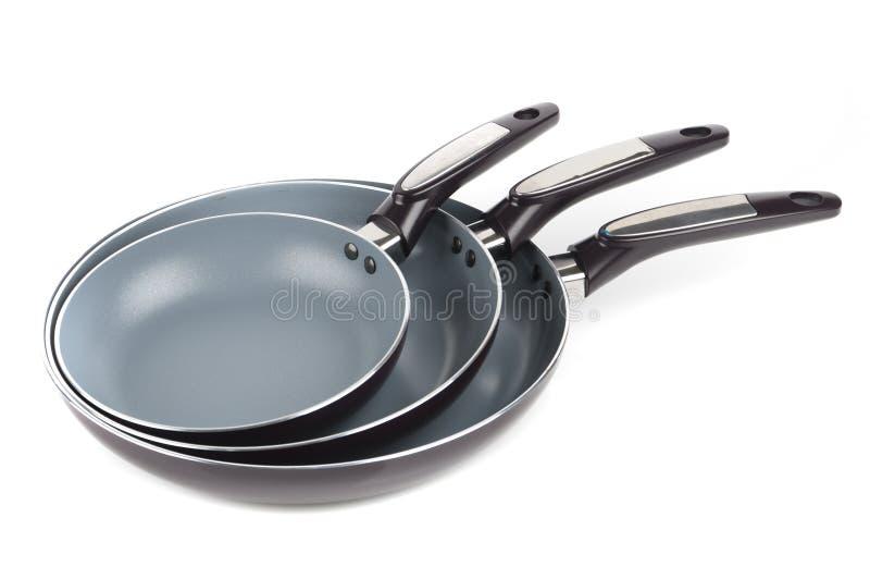 Drie stukken van pan stock afbeelding