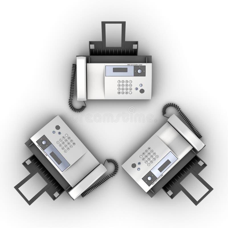 Drie telefoons vector illustratie