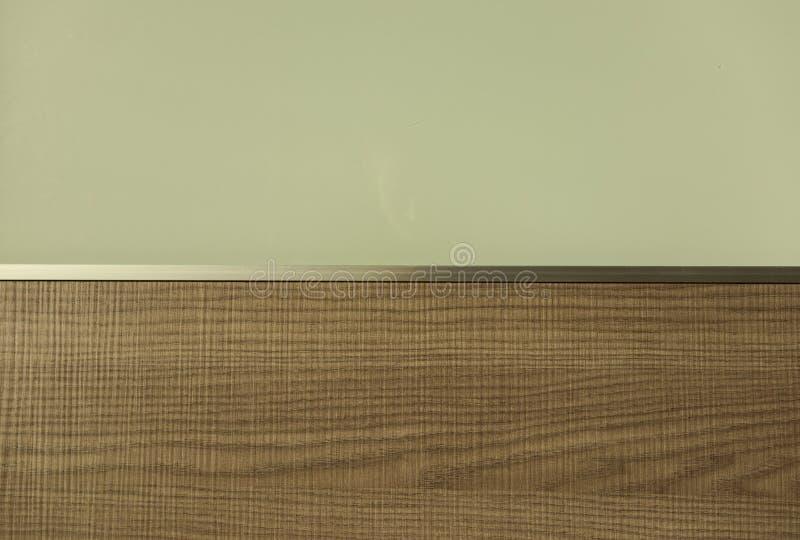 Drie texturen, hout, aluminium en glas royalty-vrije stock foto