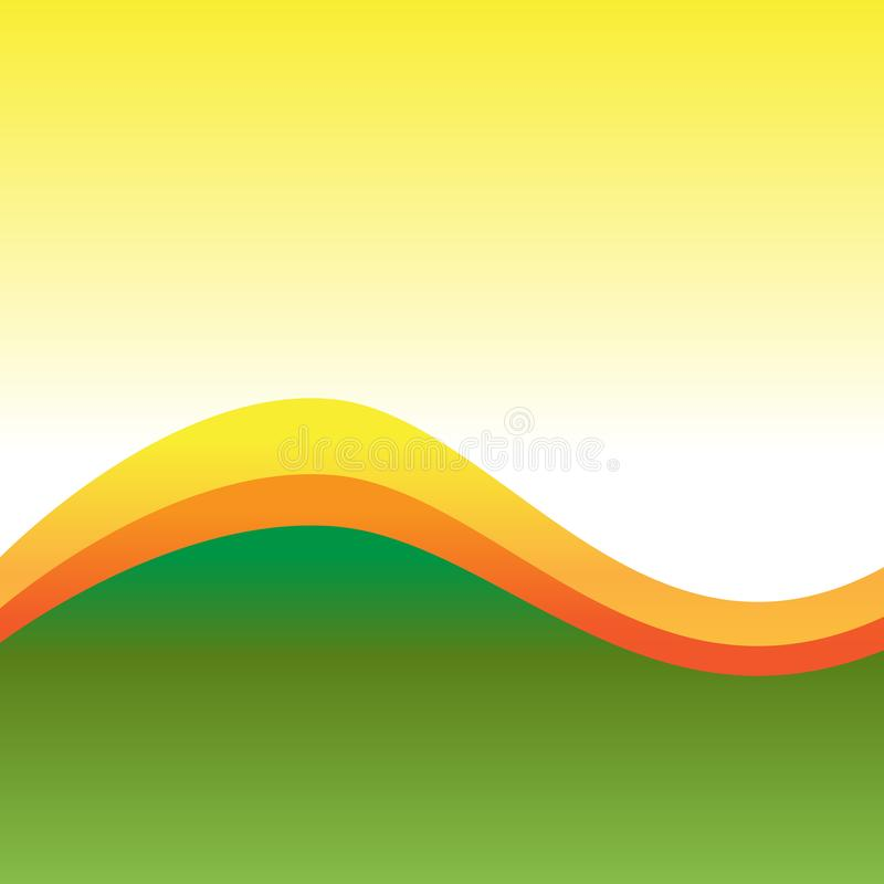 Drie Tone Background Divided door Twee Curvy-Lijnen van Verschillende Kleuren Veelkleurig Golvend Abstract Ontwerp Achtergrondide royalty-vrije illustratie
