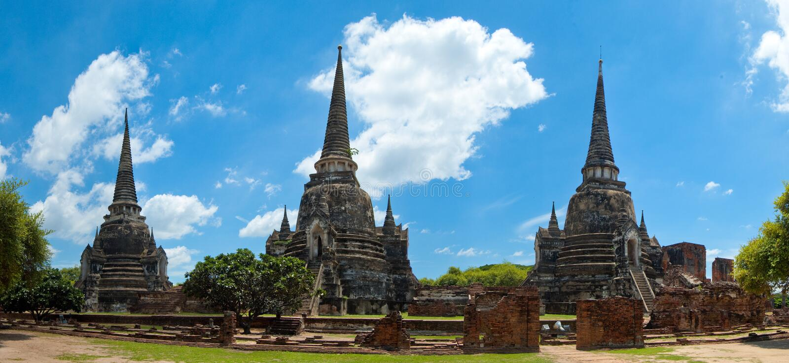 Drie Torens, Ayutthaya royalty-vrije stock afbeelding