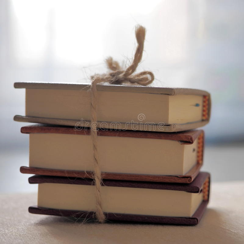 Drie Uiterst kleine Boeken stock foto's