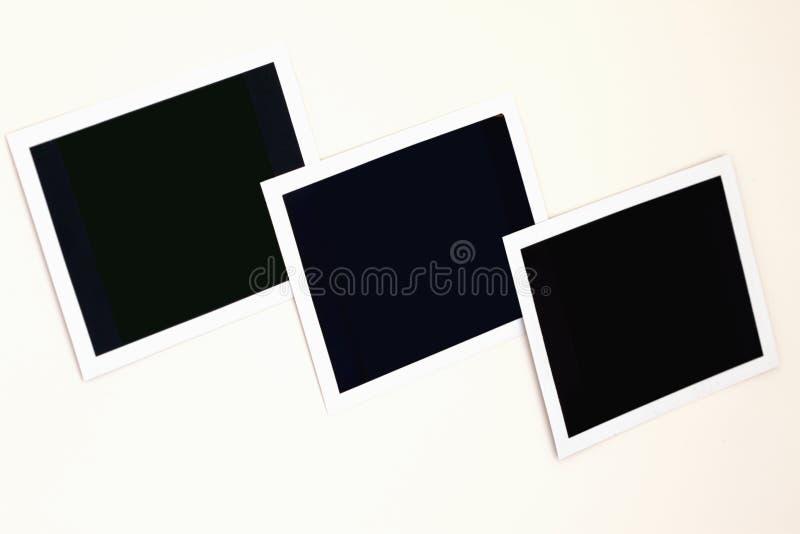 Drie verouderd wit fotoframe royalty-vrije stock afbeelding