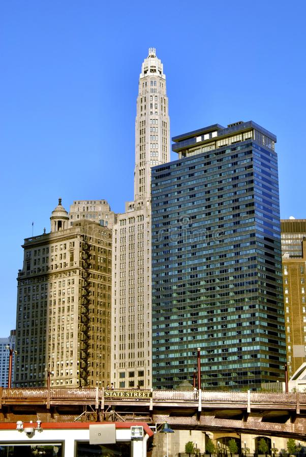 Drie verschillende gebouwen royalty-vrije stock foto