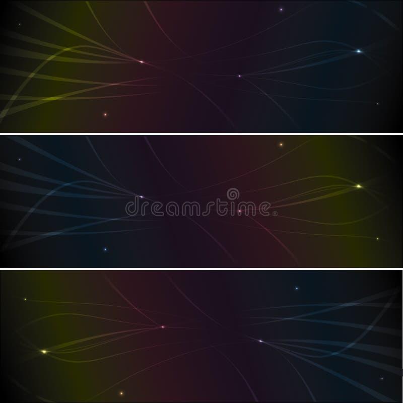 Abstracte multikleurenbanner stock illustratie
