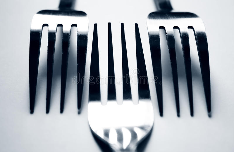 Drie vorken royalty-vrije stock afbeeldingen