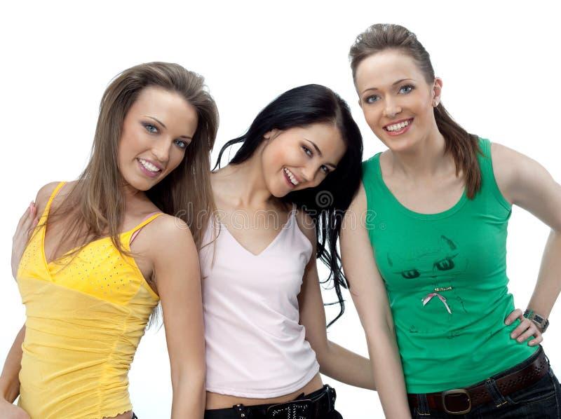 Drie vrouwen royalty-vrije stock afbeelding