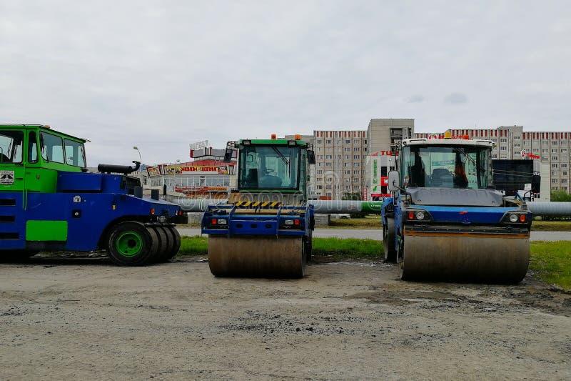 Drie wegmachines - het schaatsen piste, Mira Street stock foto