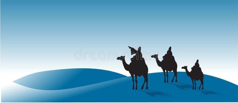 Drie wijs-mensen stock illustratie