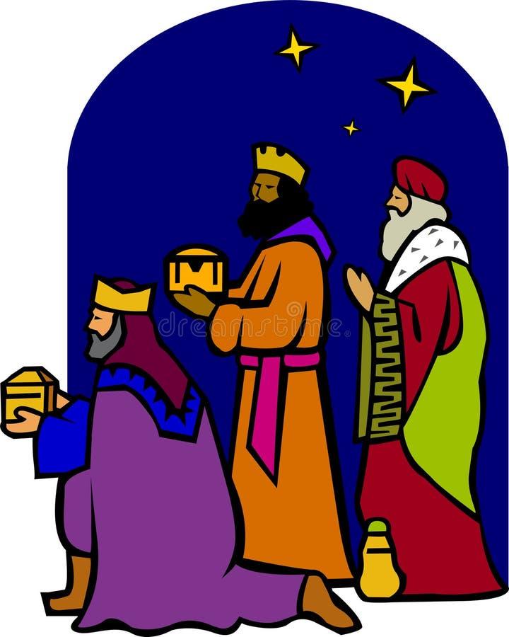 Drie Wisemen van de Geboorte van Christus/eps royalty-vrije illustratie