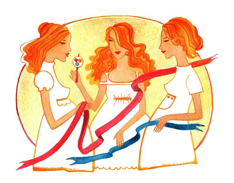 Drie zwangere vrouwen vector illustratie