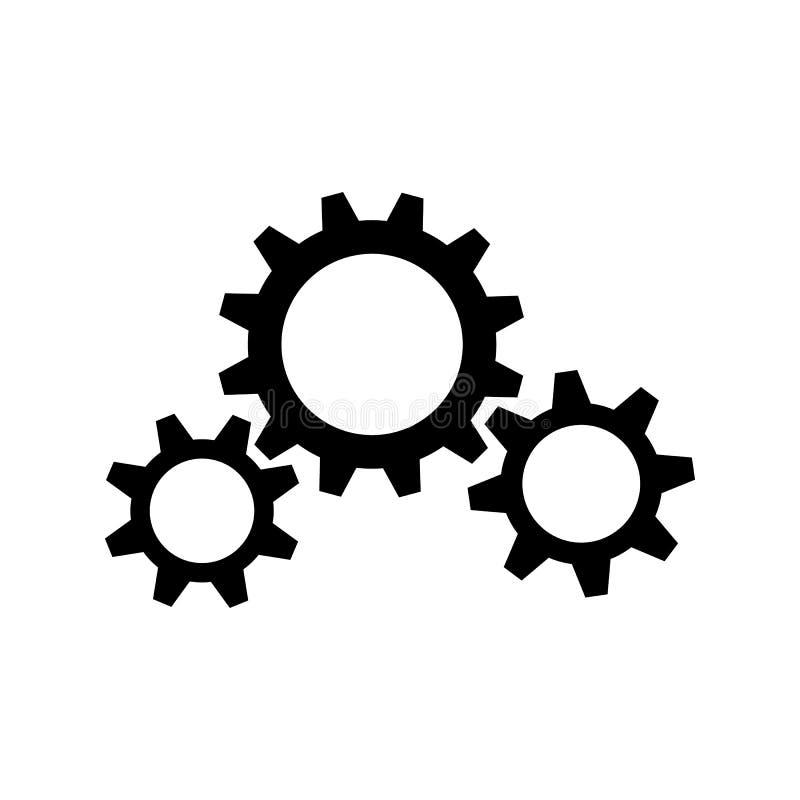 Drie zwarte toestelwielen stock illustratie