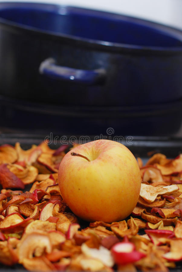 Dried apples royalty free stock photos